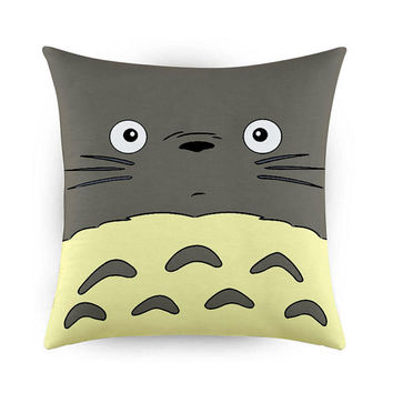 Totoro My Neightbour Design, Pillow Cases, Covers, Decorative Pillow Case