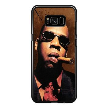 Jay-Z Cigar Glasses Tie Vest 01  Samsung Galaxy S8 Plus Case