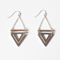 Etched Triangle Drop Earrings from Lemon Drop Boutique