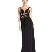 GUESS Dress, Sleeveless Beaded Cutout Gown - Dresses - Women - Macy's
