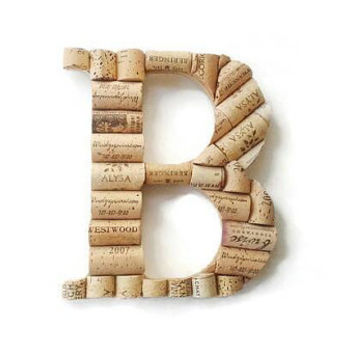 Wine cork letter B | monogram letter | wine cork crafts | decorative letters | wine cork letters | cork holder