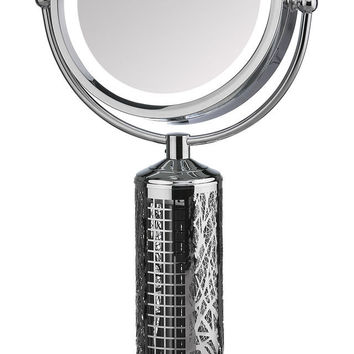FANITY - LED Illuminated Vanity Mirror And Elegant Tower Fan All-In-One