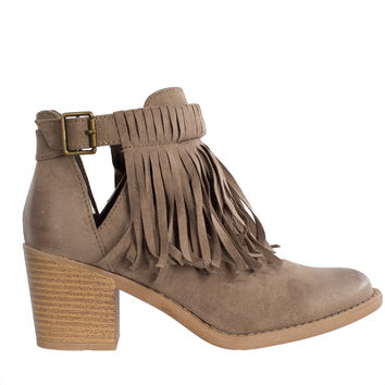 Wren Fringe Ankle Boots-FINAL SALE