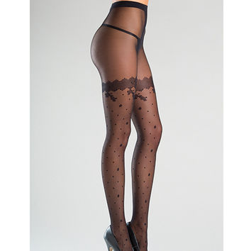 Be Wicked Polka Dot Sheer Tights