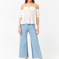 Semi-Sheer Off-the-Shoulder Top