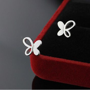 New good items Fashion Women 925 Sterling Silver Butterfly Earrings HOT SALE Gift 111901