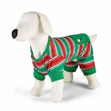 Family Pajamas Macy's Stripe Pet Pajamas D100032102 Holiday Stripe L XXL