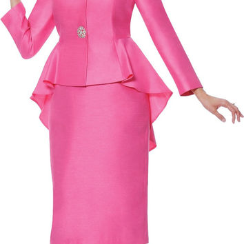 Elegant Fuchsia Yellow Satin Ladies Skirt Suits office uniform designs women Girls Interview Suits Festival Pageant Women Outfit