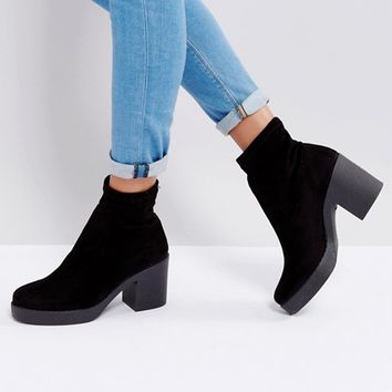 Miss Selfridge Platform Ankle Boot at asos.com