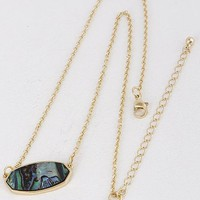 Oval Pendant Necklace