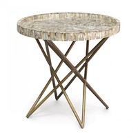 Palecek Spence Shell Side Table | New Furniture | What's New! | Candelabra, Inc.