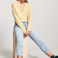 Cropped Striped Tee