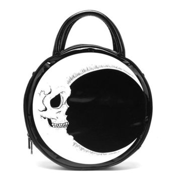 Gothic Skull Purse, Half Moon Bag