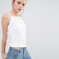 Monki High Neck Cami Top