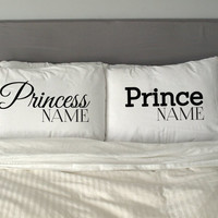 Personalised ( Put your own name)  PRINCE & PRINCESS Pillow  Funny Perfect Gift Valentine's Day *Free shipping*