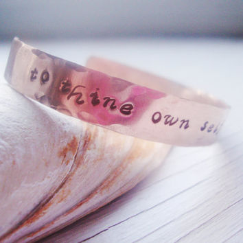 Your saying or quote custom handstamped cuff bracelet