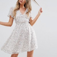 New Look Flare Sleeve Skater Dress at asos.com