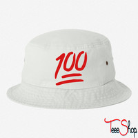 100 emoji bucket hat