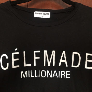 Celfmade Millionaire Tee In Black  (Madison Square Clothing )