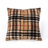 "20""L X 4""W X 20""H BURBERRY STYLE PILLOW WITH FILLER"
