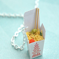 chow mein noodles necklace