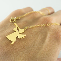 Angel Necklace - gold angel necklace, guardian angel, angel jewelry, delicate necklace, dainty necklace, girls necklace