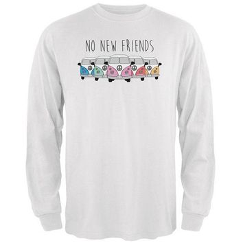 PEAPGQ9 Hippie Van No New Friends Bus Camper Mens Long Sleeve T Shirt