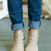 Bad Moon Rising Booties,Tan