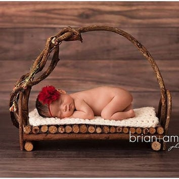 Dark Red Baby Headband, Wine Flower Headband, Dark Red Newborn Headband,  Fower Girl Headband, Newborn Photography Prop, Lace Headband