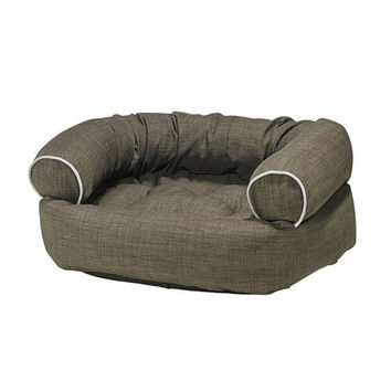 MicroLinen Double Donut Bolstered Dog Bed — Driftwood