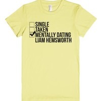 Mentally Dating L. Hemsworth-Female Lemon T-Shirt