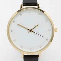 ASOS Large Face Diamante Watch