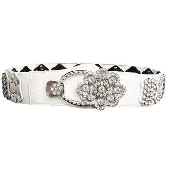 The New Designed Atlas Western Cowgirl Hot Fashion Bling Cowgirl Leather Belt Diamonds Clear Rhinestone Crystak New