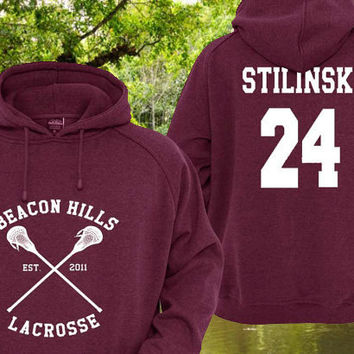 Personalized back Teen Wolf Beacon Hills Maroon Pullover Sweater Sweatshirt Hoodie