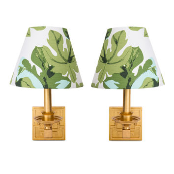Fig Leaf Sconces