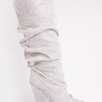 Glammed Out Boot - Silver
