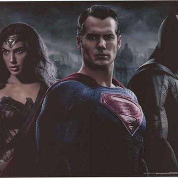Batman v Superman Trio Movie Poster 22x34