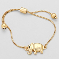 Elephant Metal Bracelet Gold