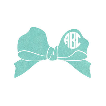 Bow with Monogram Decal