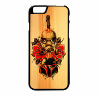 Star Wars Roses Tatto In Wood iPhone 6 Plus Case