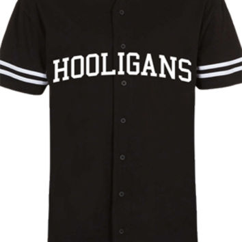 Hooligans Baseball Tee (Black)