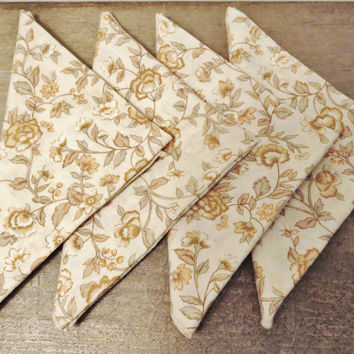 Vintage Cloth Napkins / Fall Napkins / Farmhouse Napkins  / Set of 8 Cloth Napkins / Rustic Napkins / Thanksgiving Napkins