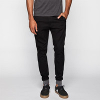 Rook Robinson Mens Chino Jogger Pants Black  In Sizes
