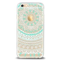 iPhone 6 Case,iPhone 6s Case,[4.7inch]by Ailun,Solid Acrylic Back&Reinforced Soft TPU Frame,Ultra-Slim,Shock-Absorption Bumper,Anti-Scratch&Fingerprint&Oil Stain Back Cover[Mandala MintGreen]