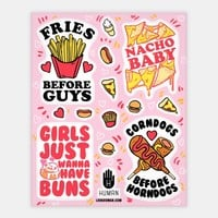 Feminist Food Stickers