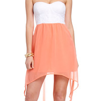 Priscilla Lace Bust High Low Dress