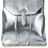 Metallic Backpack - Aqua