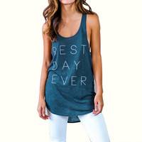 Women Loose Letter Print Crop Top Casual Sleeveless Blusa Cropped Vest Shirt Tank tops Crops for Summer T-shirt 1STL