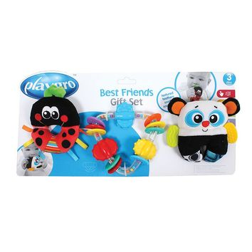 Playgro 3-pk. Best Friends Rattle & Teether Set