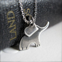 Baby Elephant Necklace Sterling Silver Ellie by modernbird